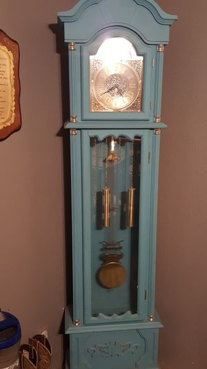 Turquoise Battery operated grandfather clock for Sale in Lumberton, TX
