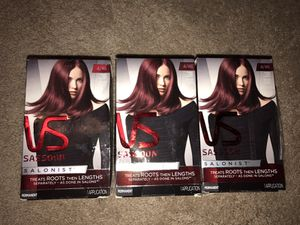 3 NEW boxes VS Sassoon dark red violet hair dye! for Sale in Tempe, AZ