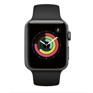 Apple Watch Series 3 (GPS) 42mm Space Gray Aluminum Case with Black Sport Band for Sale in Glenn Dale, MD