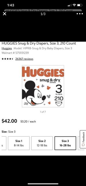 HUGGIES!!! for Sale in Madera, CA