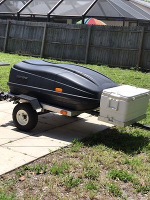 Great extra space trailer/ small car or motorcycle for Sale in Cape Coral, FL