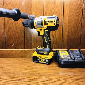Dewalt Flexvolt Hammer Drill With XR 5.0ah Battery And Charger for Sale in Plano, TX