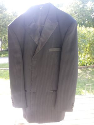 Three piece suit - black with pin stripes for Sale in Mason City, IA