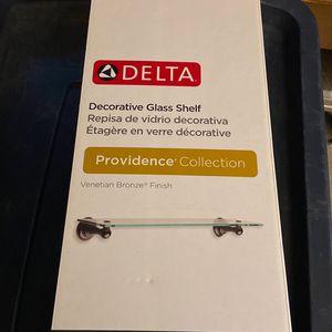New In Box Never Opened Delta Decorative Glass Shelf for Sale in Cerritos, CA