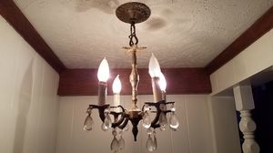 (TWO) 4 light & (ONE) 6 light chandelier style light fixtures for Sale in Terre Haute, IN