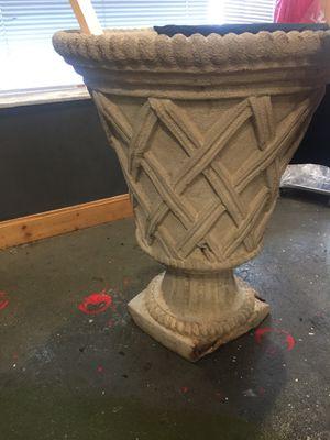 Outdoor solid concrete flower pot for Sale in Roseville, MI