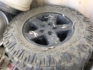 Jeep Wrangler rims and tires for Sale in Bakersfield, CA