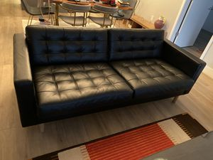 IKEA sofa! Practically new!! Black leather 700 for Sale in Miami, FL
