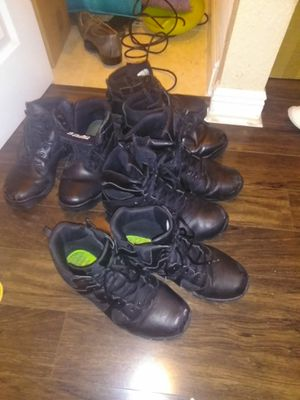 Old use work boots size 12..... $50 for all for Sale in Miramar, FL