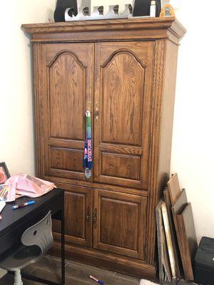 Solid oak entertainment center/armoire/coffee bar for Sale in Gilbert, AZ