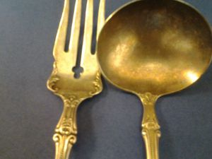 Antique serving spoon and fork set. for Sale in Washington, DC