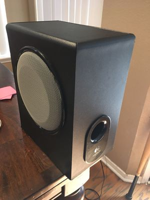 Huge sub and speakers for computer or any audio vis system. Logitech for Sale in Spring, TX