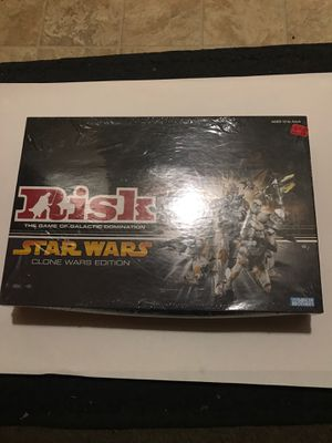RISK THE GAME OF GALACTIC DOMINATION STARS WARS CLONE WARS EDITION CLOSED BOX NEVER PLAYED for Sale in El Cajon, CA