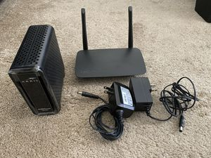 Arris Surfboard modem and Linksys Router for Sale in Frederick, MD