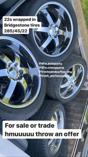 22 rims Chevy gmc for Sale in Dallas, TX