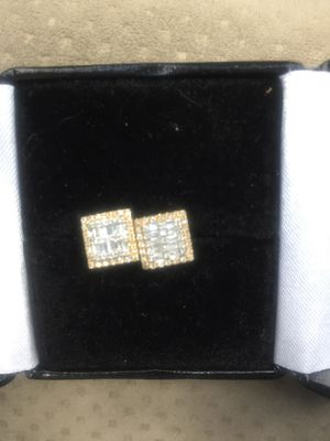 Earrings(10K Gold and Baguette Diamonds) for Sale in Glastonbury, CT