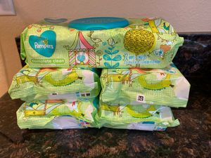 5 packs of 72 count unscented Pampers wipes- $5 for Sale in Denver, CO