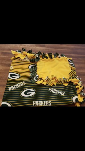 Newly made Greenbay fleece blanket for Sale in Rogers, AR