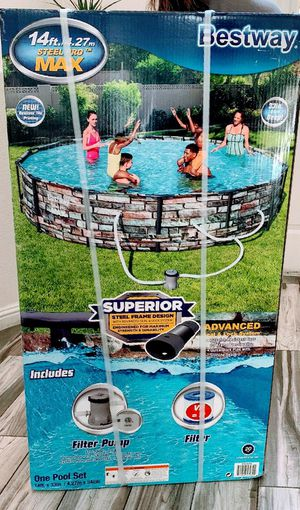 Matal frame 14 family swimming pool new in box for Sale in Las Vegas, NV