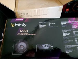 Infinity shallow 12 inch subs brand new the best 👌 for Sale in Phillips Ranch, CA