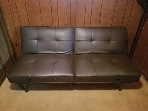 Adjustable leather futon for Sale in Elmhurst, IL