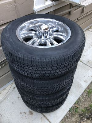 """17"""" Chrome wheels and tires for Sale in Sacramento, CA"""