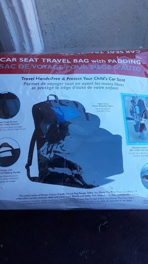 Car Seat travel bag for Sale in San Leandro, CA