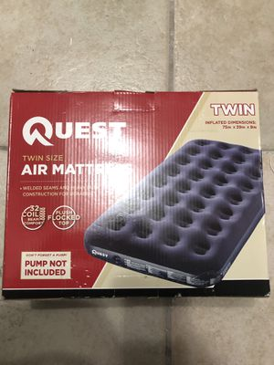 Quest Twin Size Air Mattress 75x39x9 inches for Sale in West Covina, CA