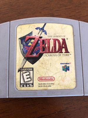 TESTED/WORKS N64 Legend of Zelda Ocarina of Time Nintendo 64 cartridge for Sale in Scottsdale, AZ