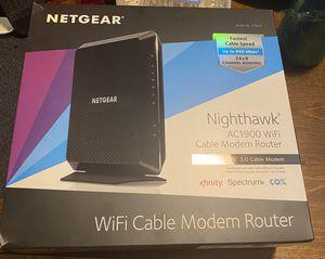 NETGEAR NIGHTHAWK AC1900 WIFI CABLE MODEM ROUTER for Sale in Lynn, MA