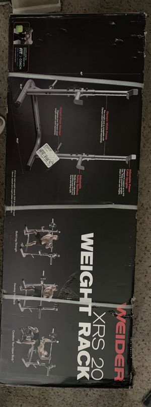 Weider XRS 20 Olympic Squat Ráck with Adjustable Saftey Spotters and Integrated Wëíght Plate Storage for Sale in Vista, CA