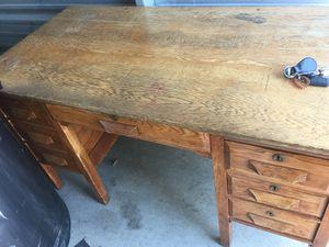 Antique solid wood teachers desk hilliard for Sale in Hilliard, OH