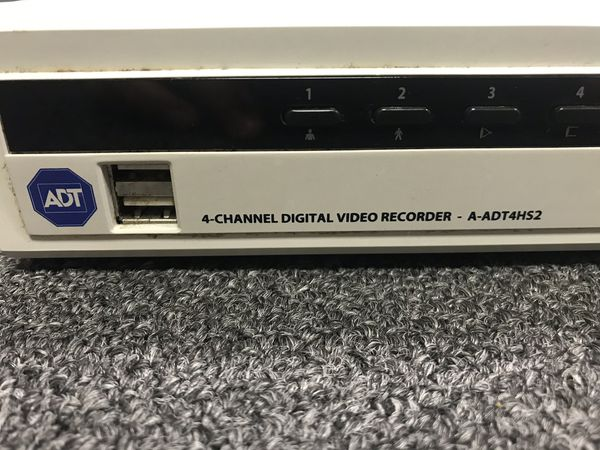 ADT 4 CHANNEL DVR A-ADT4HS2 With 500GB Hard Drive Disk