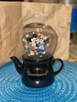Disney Mickey Mouse & Minnie Mouse Tea For One Tea Pot & Snow Globe Cup Set $70 for Sale in Tampa, FL