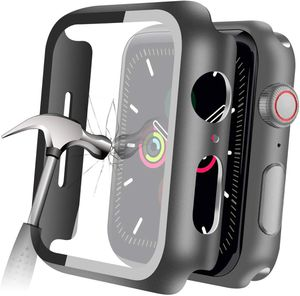 Compatible with Apple Watch Series 5 Series 4 44mm Case with Built-in Tempered Glass Screen Protector, Thin Guard Bumper Full Coverage Matte Hard Cov for Sale in Torrance, CA