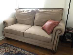 Sofa and Loveseat Set (leather throw pillows included!) for Sale in West Hollywood, CA