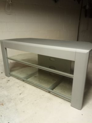Teck craft TV stand metal and glass for Sale in Henrico, VA