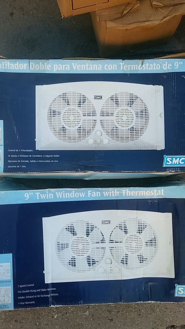 SMC Twin Window Fan With Thermostat for Sale in Long Beach, CA - OfferUp