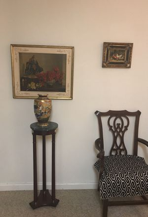 Each piece $200 antiques gold wood paintings chair stand for Sale in Paterson, NJ