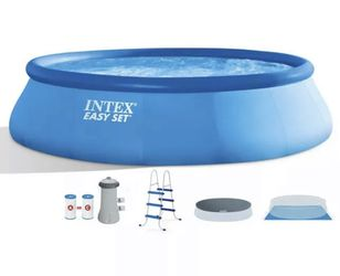 """Intex 15ft x 48"""" Easy Set Swimming Pool w/ Ladder, Filter, Pump, & Cover for Sale in Vienna,  VA"""