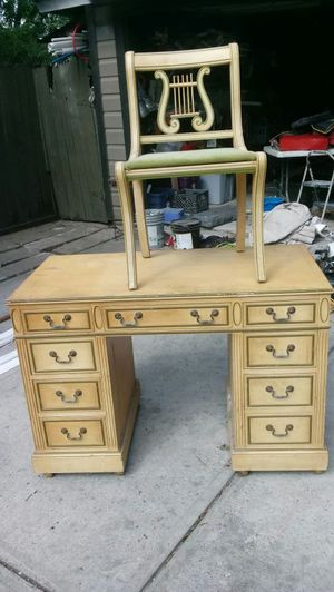 Desk and chair set antique for Sale in Houston, TX