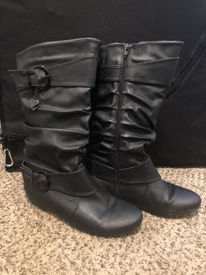 Black Calf Boots Size 8 for Sale in Oakland, CA