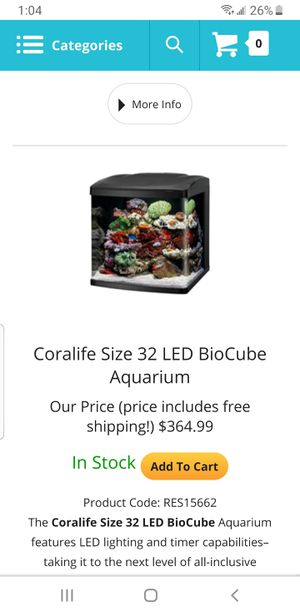 Biocube 32 fishtank for Sale in Mount Morris, MI