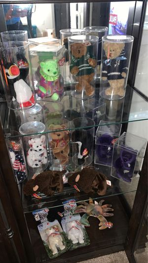 My beanie baby collection, most retired and cased, selling as one bundle, most have many errors for Sale in Walled Lake, MI