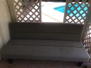Used couch that can turn into bed. Couch: length :25.5 Width:69 inch. Bed:length :25.5inch and width:69inch for Sale in Phoenix, AZ