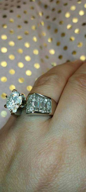 4.40 carat certified 18k gold diamond engagement ring for Sale in Atlanta, GA