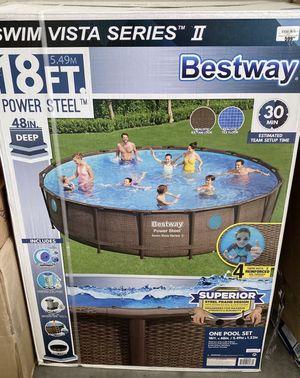 "Bestway 18' x 48"" Power Steel Swim Vista Series II Swimming Pool for Sale in Winter Park, FL"