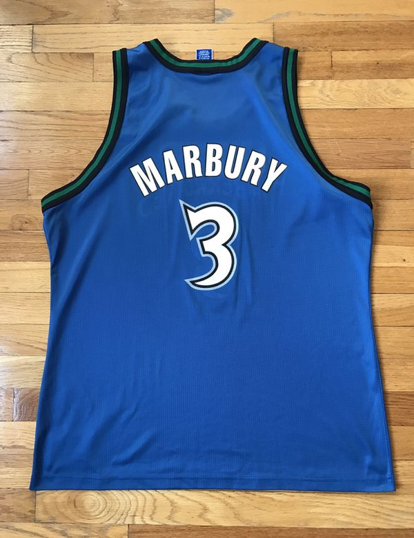 8be2668ffbb Champion Stephon Marbury Timberwolves jersey size 48 for Sale in ...