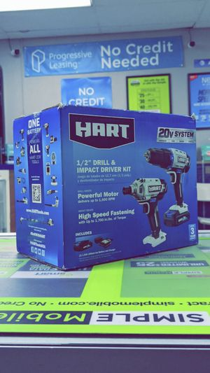 HART 20-Volt Cordless 2-Piece 1/2-inch Drill and Impact Driver Combo Kit (1) 1.5Ah Lithium-Ion Battery! Brand New in Box! for Sale in Arlington, TX