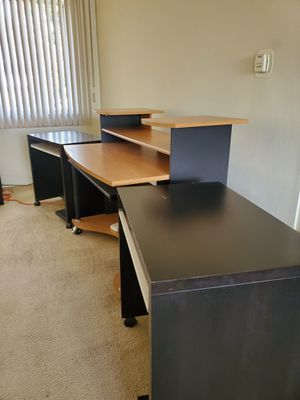 Recording Studio Desk Workstation + 2 sidecar tables (EXCELLENT CONDITION) for Sale in Los Angeles, CA